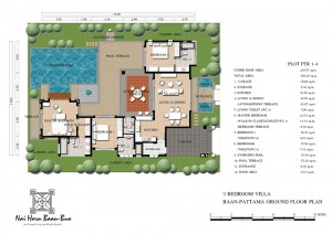 Floor plan PTR1-4(3BR) Baan-Pattama